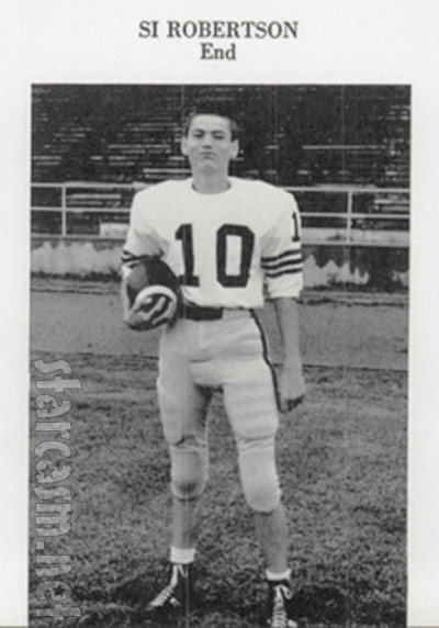 Duck Dynasty's Si Robertson football photo from high school