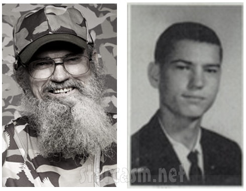 Duck Dynasty Si Robertson now and before the beard in high school