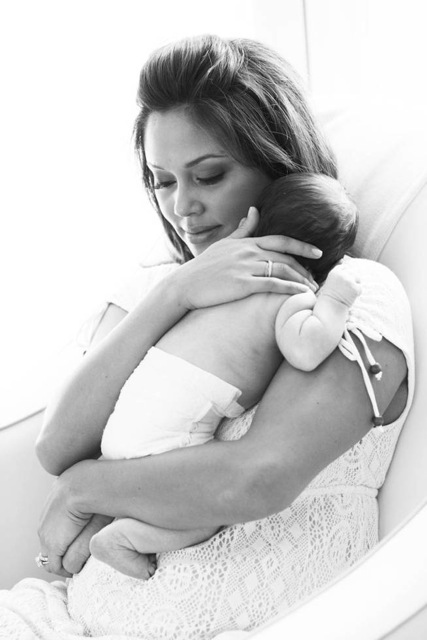 Vanessa Lachey with Baby Camden