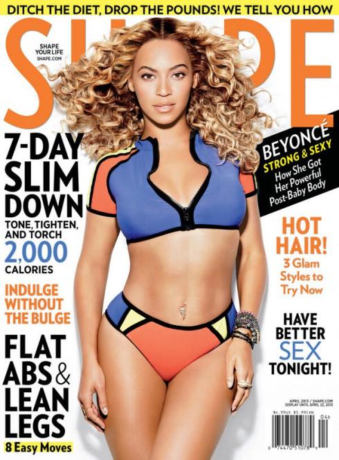 Beyonce Shape Cover April 2013