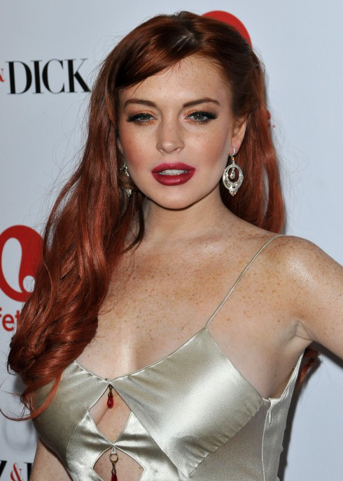 Lindsay Lohan at The premiere of 'Liz and Dick' at the Beverly Hills Hotel in Beverly Hills, United States.