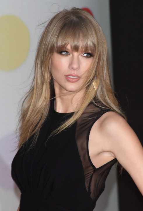 Taylor Swift attends the 2013 Brit Awards (Brits) held at the O2 arena in London, United Kingdom.