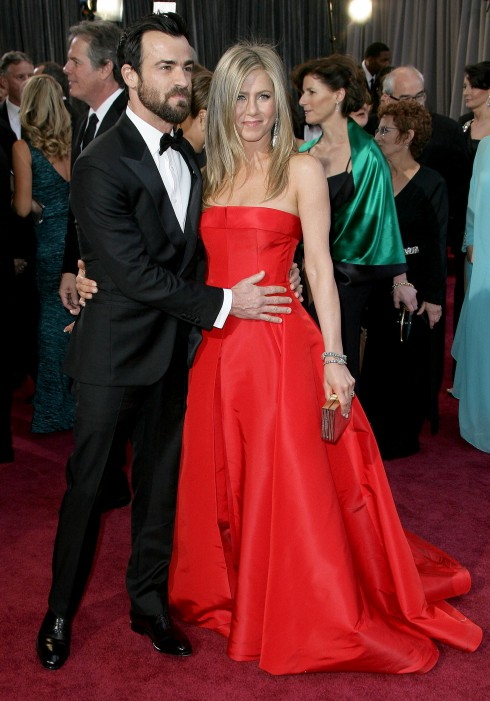 Justin Theroux and Jennifer Aniston attend The 85th Annual Oscars at Hollywood & Highland Center in Los Angeles, California, United States.