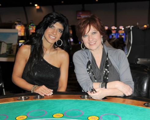 Teresa Guidice and Caroline Manzo appear at the 4th Annual Sweet Dreams dessert extravaganza at the Seminole Coconut Creek Casino in Coconut Creek, Florida.