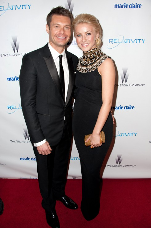 Ryan Seacrest and Julianne Hough attend the Weinstein Company's Golden Globe Awards After Party in Los Angeles, California.