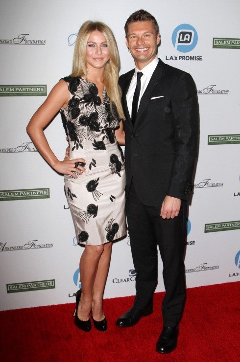 Julianne Hough and Ryan Seacrest attend the Promise 2011 Gala at the Grand Ballroom, Hollywood & Highland in Los Angeles, California.