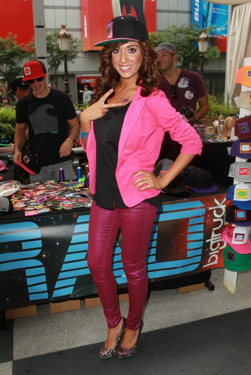 Farrah Abraham attends the 102.7 FM/ KIIS FM 2012 VMA Pre Party held at the JW Marriott in Los Angeles, California.