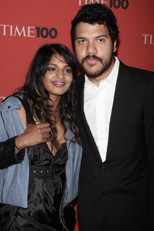M.I.A. and Benjamin Bronfman attend Time's 100 Most Influential People in the World Gala at Rose Hall, Jazz at Lincoln Centre in New York City, USA.
