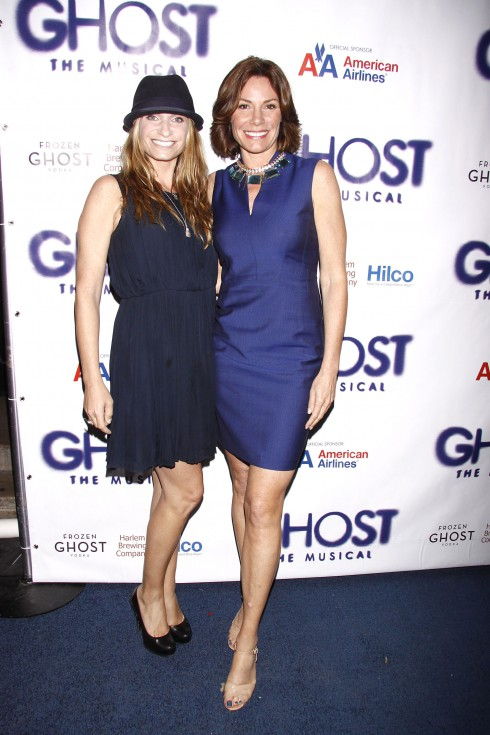 Heather Thomson and LuAnn de Lesseps at the Broadway opening night of 'Ghost The Musical' at the Lunt-Fontanne Theatre in New York City, USA.