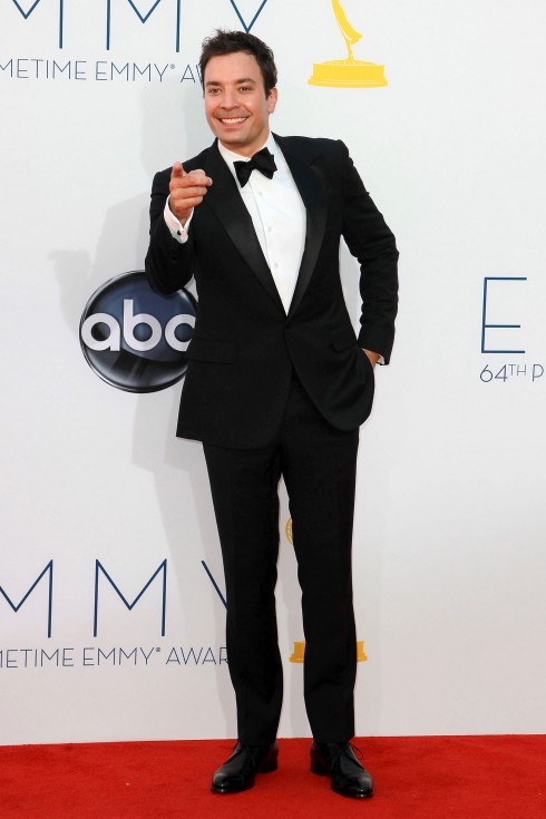 Jimmy Fallon at the 64th Annual Primetime Emmy Awards, held at Nokia Theatre L.A. Live in Los Angeles, California.