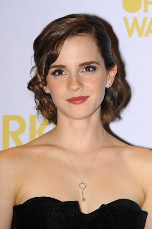 Emma Watson attends Gala Screening of 'The Perks of Being A Wallflower' held at the May Fair Hotel in London, England.