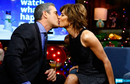 Andy Cohen and Lisa Rinna on Watch What Happens Live