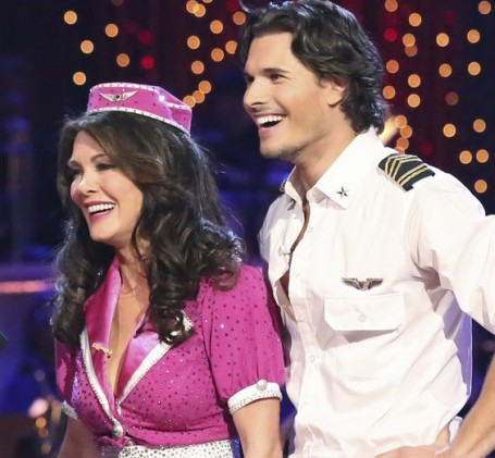 Lisa Vanderpump and Gleb on Dancing With The Stars