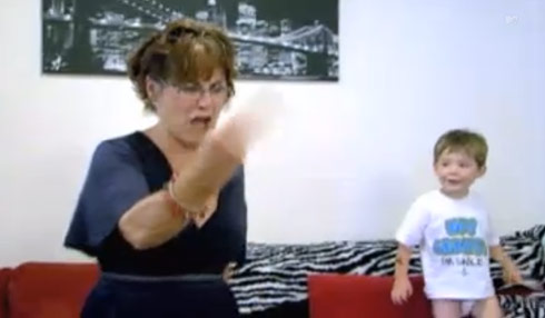 Barbara Evans flips the bird and tells Jenelle F you as Jace watches