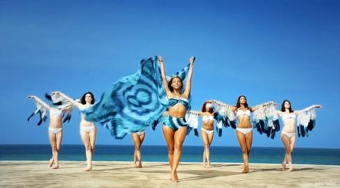 Beyonce H&M swimwear 2013 Standing On the Sun music video
