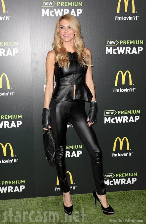 Brandi Glanville leather McDonald's Premium McWrap launch