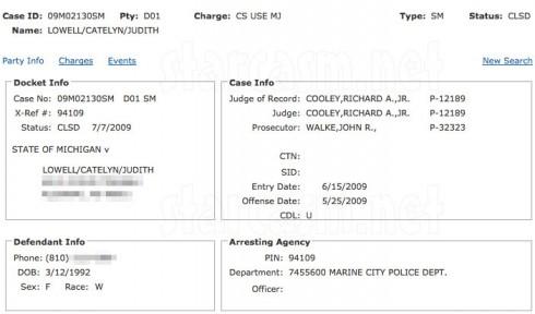 Catelynn Lowell arrest record for 2009 marijuana arrest