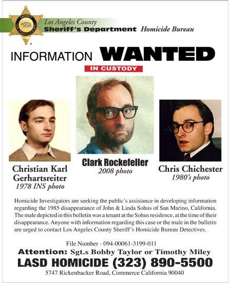 Christian Karl Gerhartsreiter aka Clark Rockefeller wanted poster
