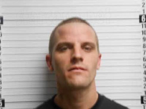 Courtland Rogers mug shot photo from heroin arrest in April 2013