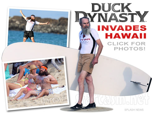 Click for photos of Duck Dynasty's Robertson family in Hawaii