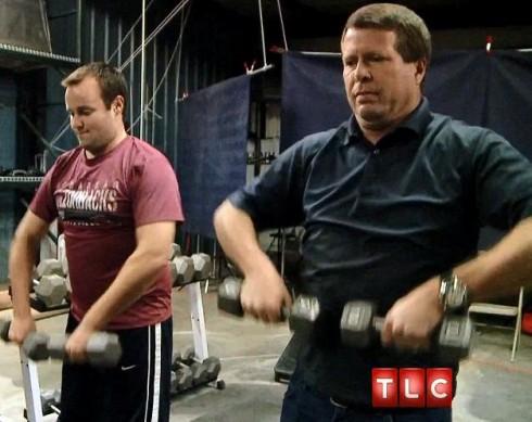 Jim Bob and Josh Duggar Exercise