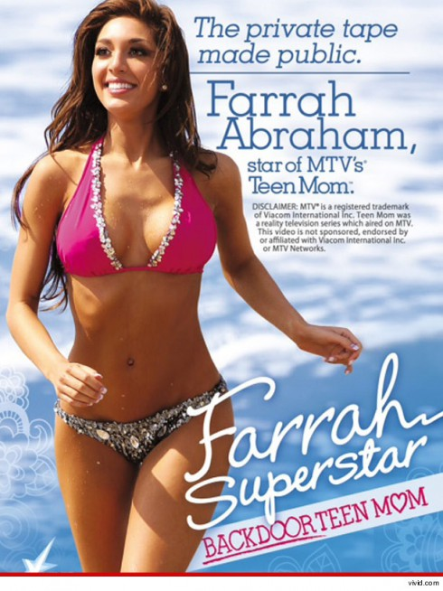 The cover of Teen Mom Farrah Abraham's sex tape video from Vivid