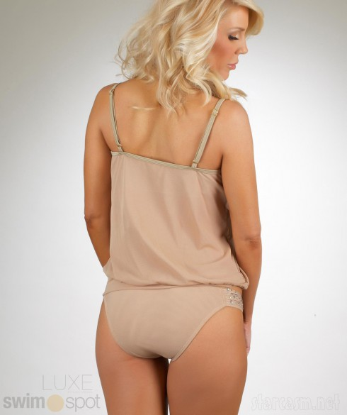 Gretchen Rossi swimwear line with LUXE by Lisa Vogel Tankini back view