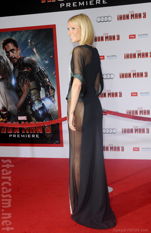 Gwyneth Paltrow Iron Man 3 premiere see-through dress