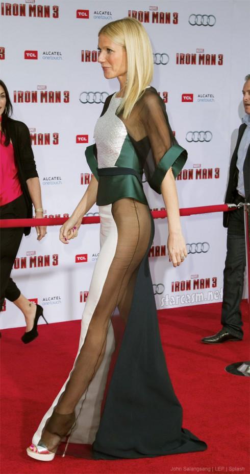 Gwyneth Paltrow Iron Man 3 Premiere sheer dress