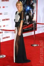 Gwyneth Paltrow sheer see-through dress Iron Man 3 Premiere red carpet