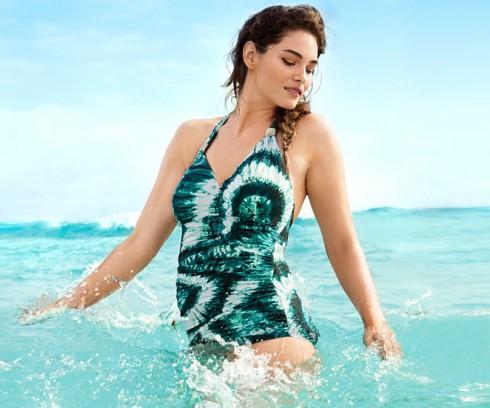 Plus-size model Jennie Runk for H&M Beachwear