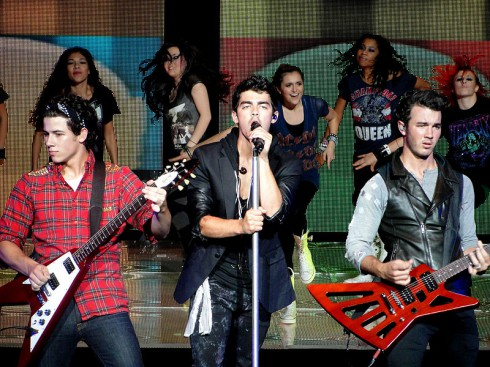 The Jonas Brothers Performing
