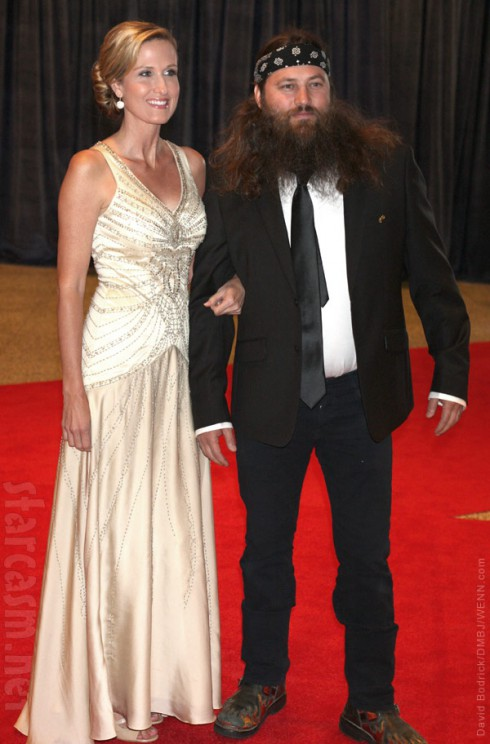 Duck Dynasty's Korie Robertson and Willie Robertson White House Correspondents Association Dinner red carpet