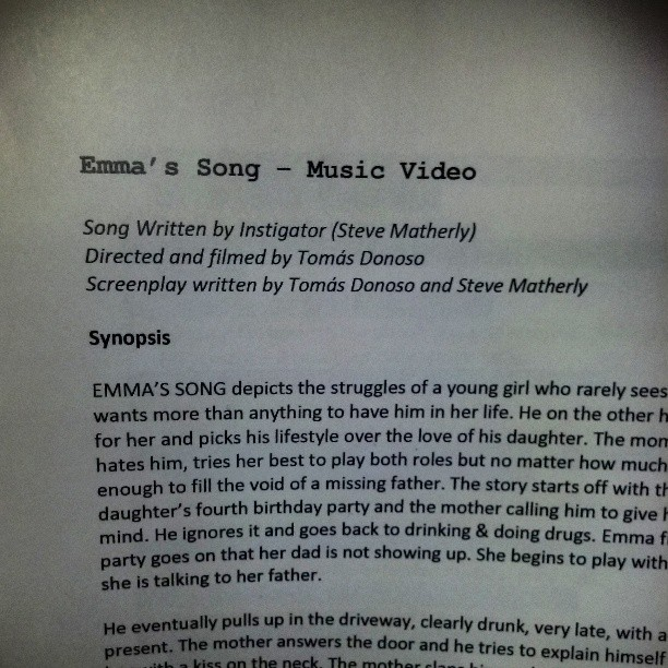 Maci Bookout Music video Emma's Song synopsis The Instigator