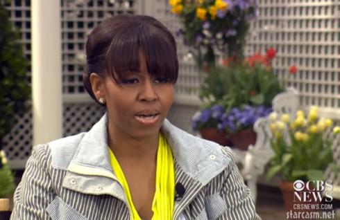 Michelle Obama single mother CBS News clip