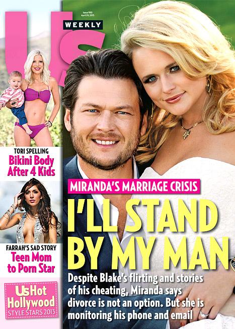 Miranda Lambert Us Weekly cover I'll stand by my man