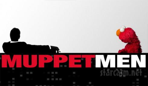 Jon Hamm and Elmo star on Sesame Street together Muppet Men graphic