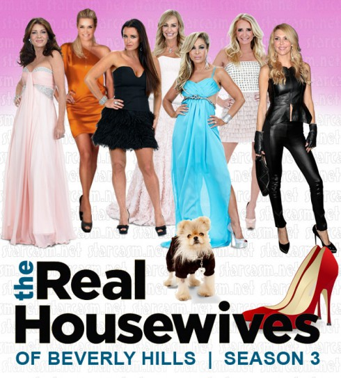 Brandi Glanville in leather for RHOBH SEason 3 cast photos