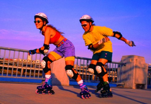 Rollerblades in the 1990s
