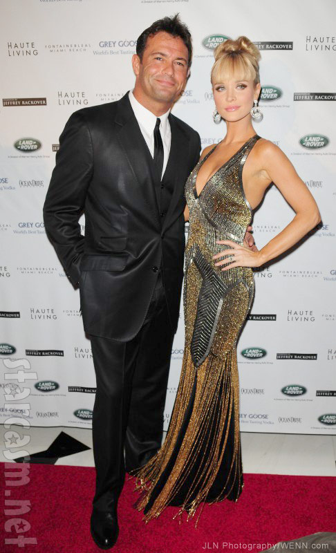 Romain Zago and Joanna Krupa attend The Blacks' Annual Gala 2013 held at Fontainebleau Miami Beach, Florida