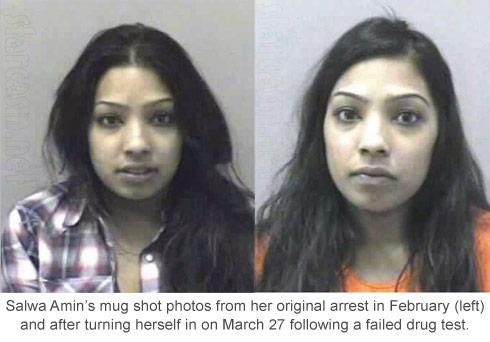 Buckwild's Salwa Amin mugshot photos for drug arrest