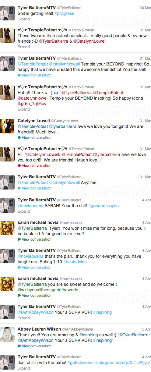 Tyler Baltierra tweets while in Couples Therapy