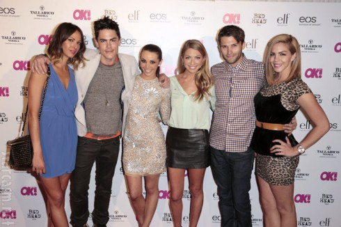 Vanderpump Rules stars Kristen, Stassi, Jax, Tom, Katie, Tom, and Scheana attends OK! Magazine's SO SEXY event at Skybar