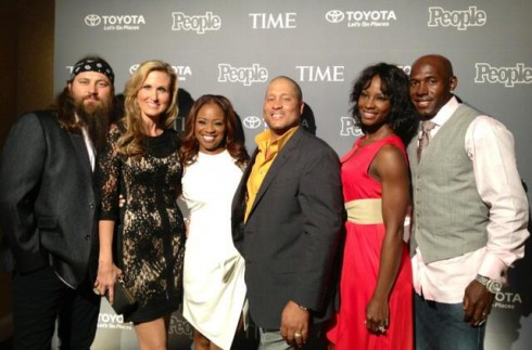 Willie Robertson Korie Robertson The Neelys Donald Driver and wife Betina at 2013 White House Correspondents' Dinner People magazine party