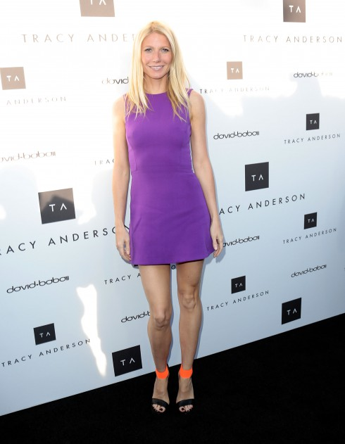 Gwyneth Paltrow and Tracy Anderson celebrate the opening of the Tracy Anderson Flagship Studio in Brentwood, California.