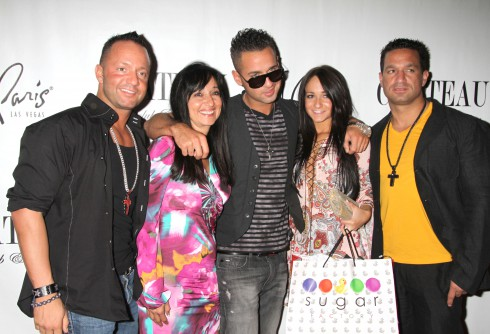 Frank Sorrentino Jr., Linda Sorrentino, Mike 'The Situation' Sorrentino, Melissa Sorrentino and Marc Sorrentino Mike 'The Situation' Sorrentino hosts an evening at Chateau nightclub inside the Paris Hotel and Casino in Las Vegas, Nevada.