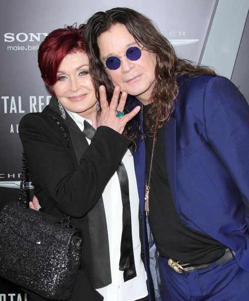 Sharon Osbourne and Ozzy Osbourne at the Los Angeles premiere of 'Total Recall' at Grauman's Chinese Theatre in Hollywood, California.