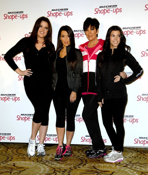 Kourtney Kardashian, Kim Kardashian, Kris Jenner and Khloe Kardashian at the Skechers Shape-Ups Announces Global Partnership With Kardashian sisters and Kris Jenner at a special event held at the Beverly Hills Regent Hotel in Los Angeles, California.