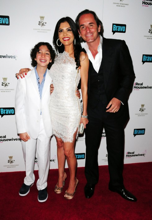 Adriana De Moura and her family attend The Real Housewives of Miami Premiere Party at Eden Roc Hotel and Resort in Miami, Florida.