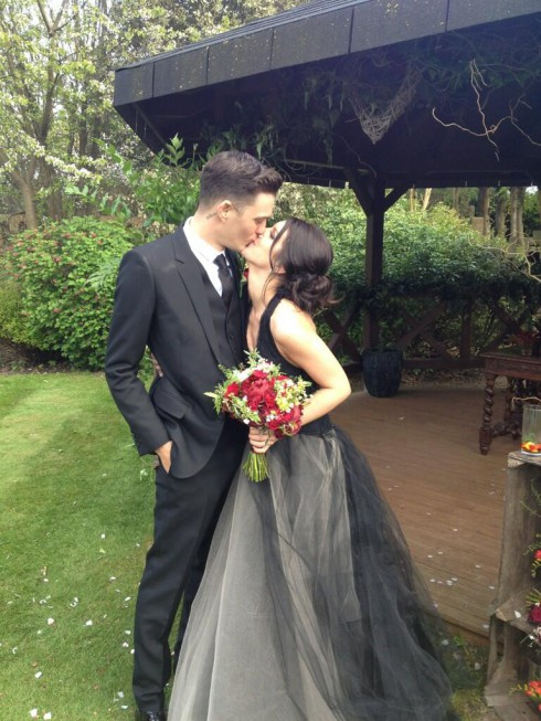 Josh Beech and Shenae Grimes wedding photo